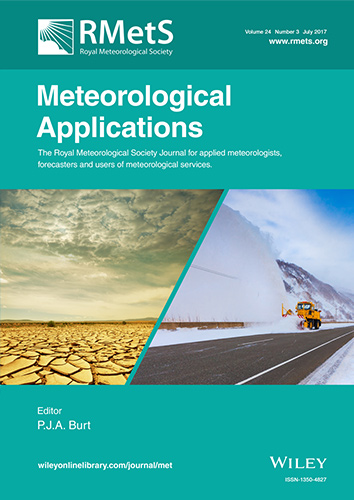 Meteorological Applications Journal Cover