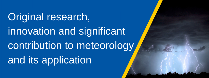Original research, innovation and significant contribution to meteorology and its application banner
