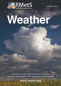 cover of June issue of Weather