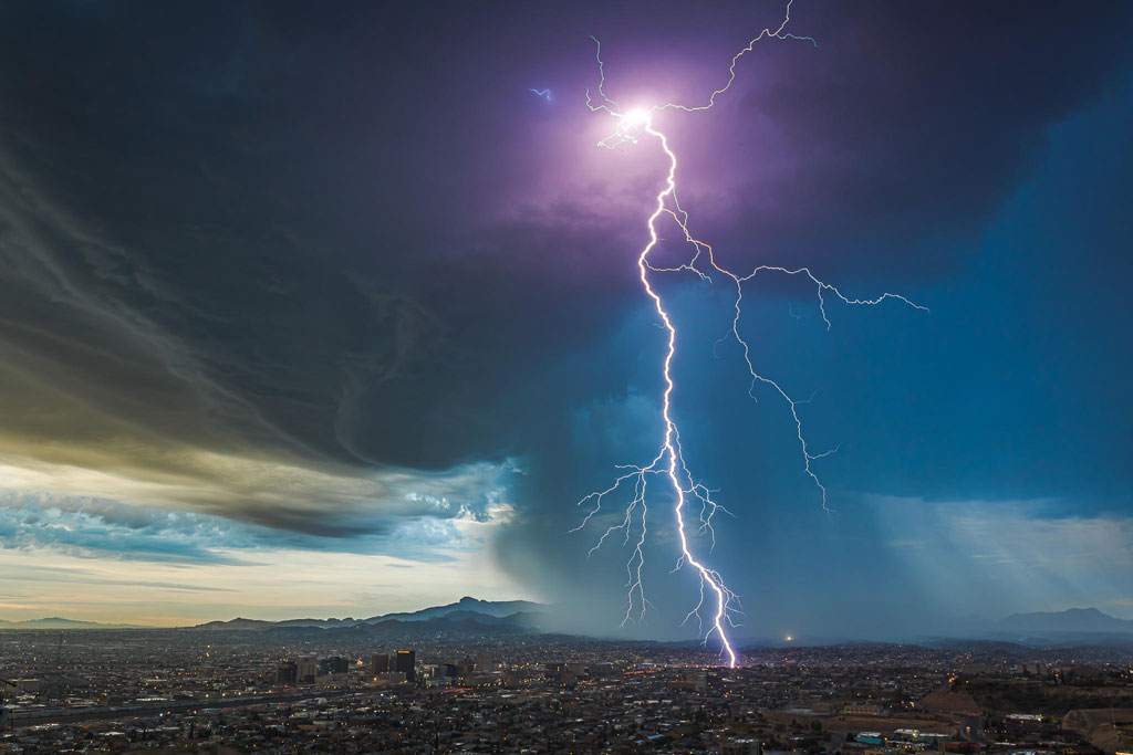 Predawn Thunderstorm Over El Paso, Texas © Lori Grace Bailey