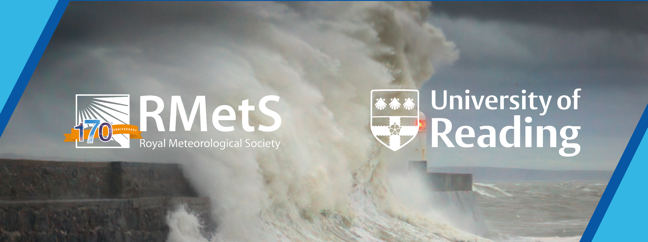 Event banner showing storm wave and RMetS and University of Reading logos
