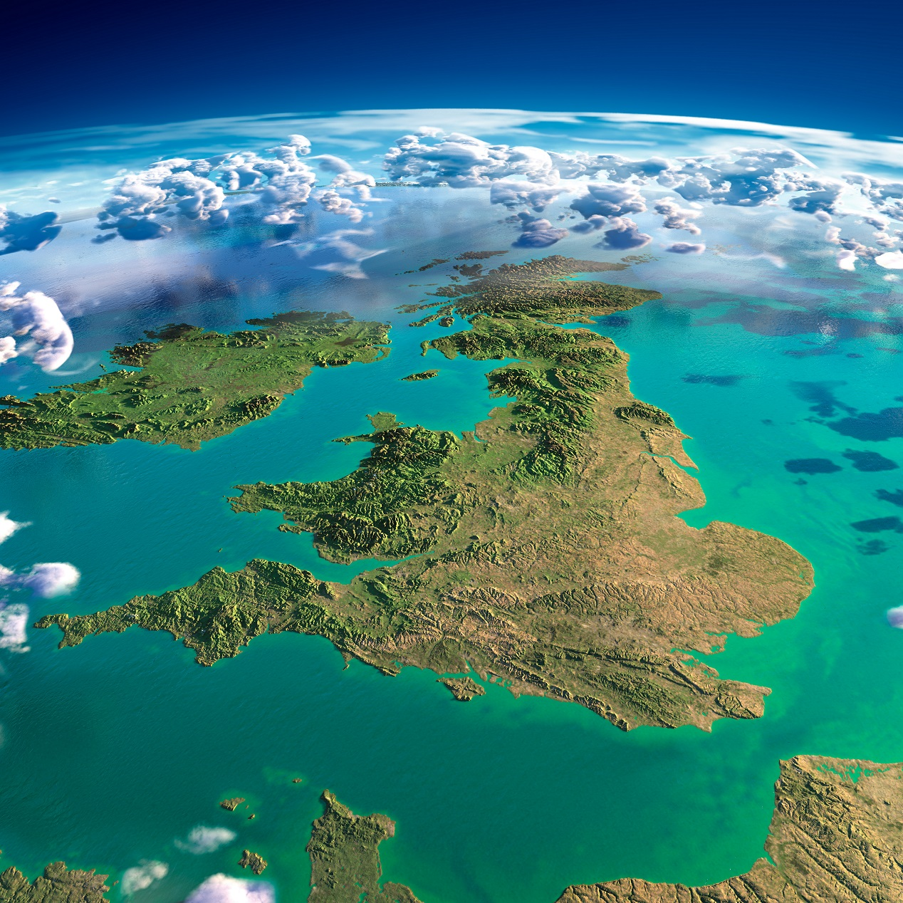 Satellite image UK and Ireland