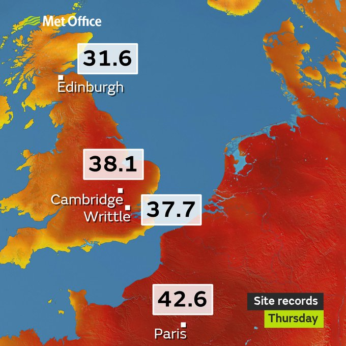 Temperature records (Source: Met Office)