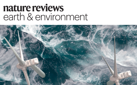 Front cover of Nature Reviews Earth and Environment