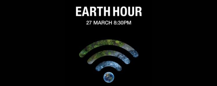 Earth Hour banner with event dates