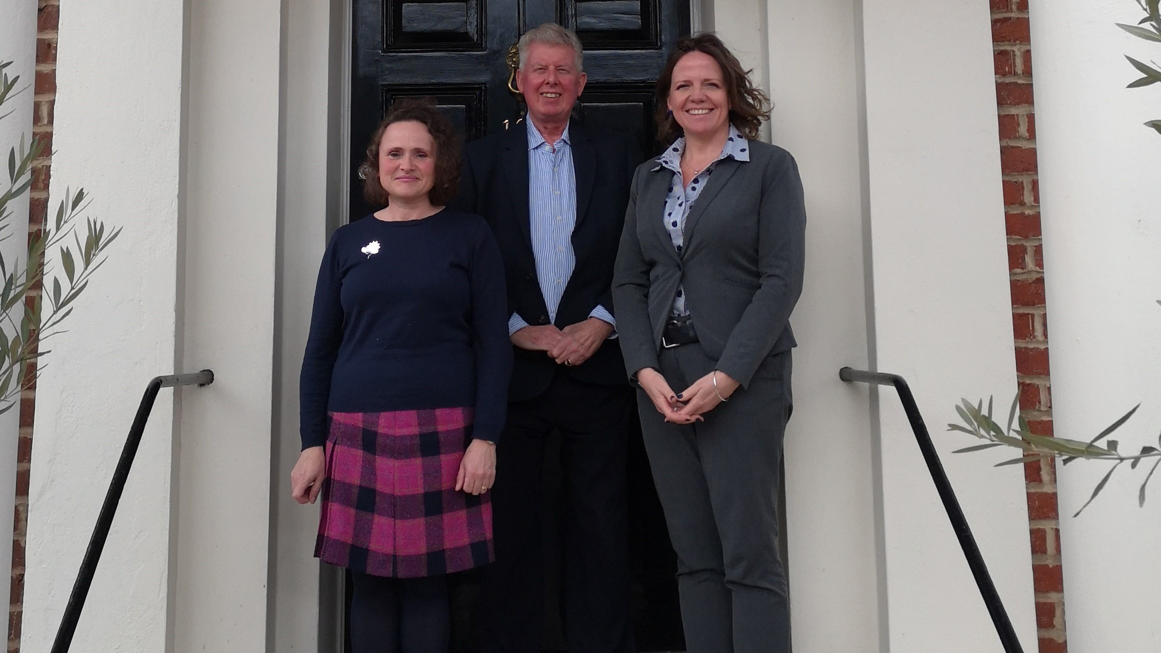 Penny Endersby with David Warrilow and Liz Bentley at the Society