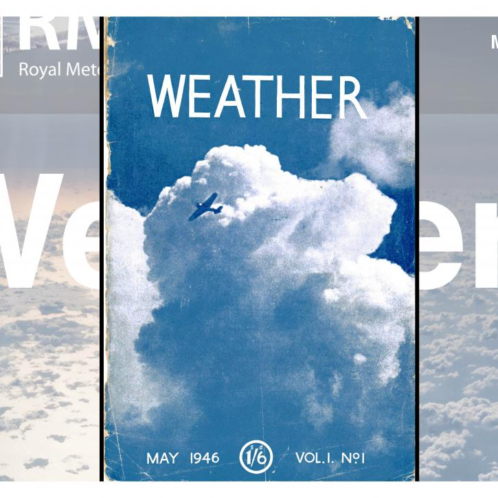 Front cover of 1st issue of Weather - shows a cloud and plane across